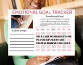 Weekly Wellness Goal Tracker includes Spiritual, Emotional, Intellectual, Social and Physical Wellness
