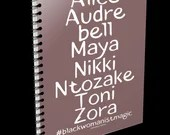 Black Womanist Magic notebook, perfect for notes or journal. Self-Care notepad