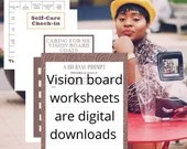 Vision Board Worksheets to improve your goal setting any time of the year