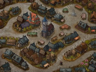RPG Fantasy Town Map for Roleplaying Dungeons and Dragons etc Etsy