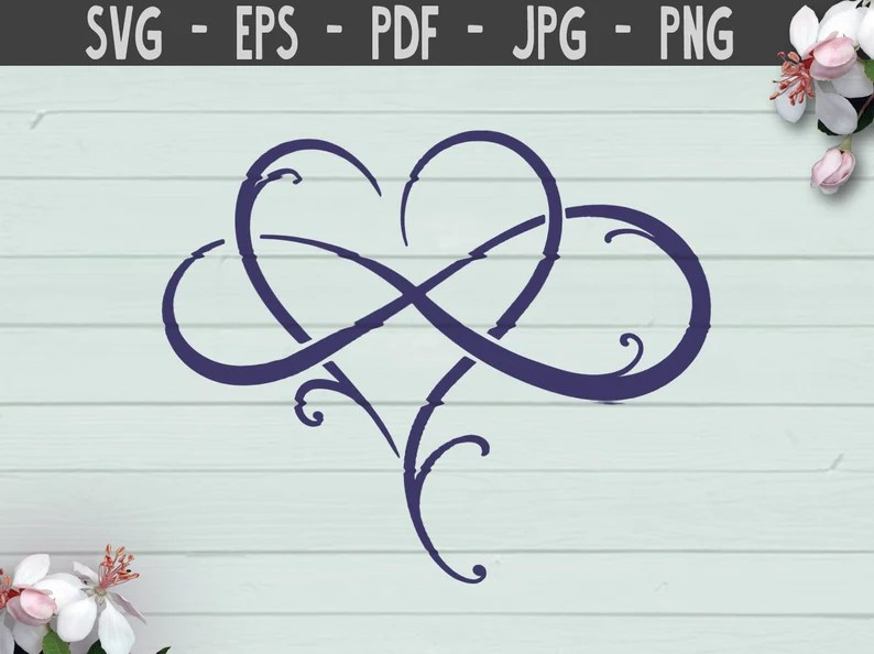 Download Love infinity heart SVG Cut Files png love hearts infinity ...