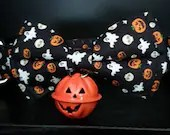 Cosy Book Cult Halloween dog collar and bow tie large familiar ghosts goth dogs pumpkin bell cute black skulls spiders
