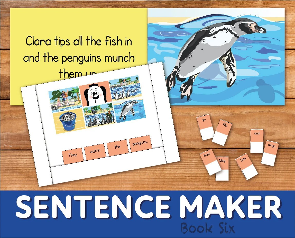 Make Sentences With The Sentence Maker Book 6 Printable