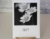 Kalender 2021 A6, Tischkalender schwarz weiß Fotografie, Fine Art Fotokalender, Kunstdruck Fotografie, Postkartenkalender schwarz weiß