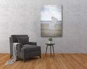 Strandkorb an der Nordsee || Wandbild || Hartschaumplatte || 40x60 cm || 60x90 cm