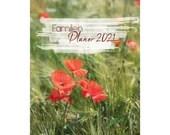Familienplaner A4, Fotografie Kalender 2021, Planer 2021 Fotografie, Wandkalender Foto, Kalender Natur A4, Fotogeschenk Weihnachten