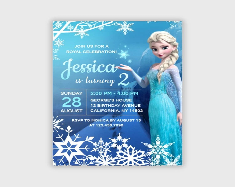 elsa birthday invitation etsy