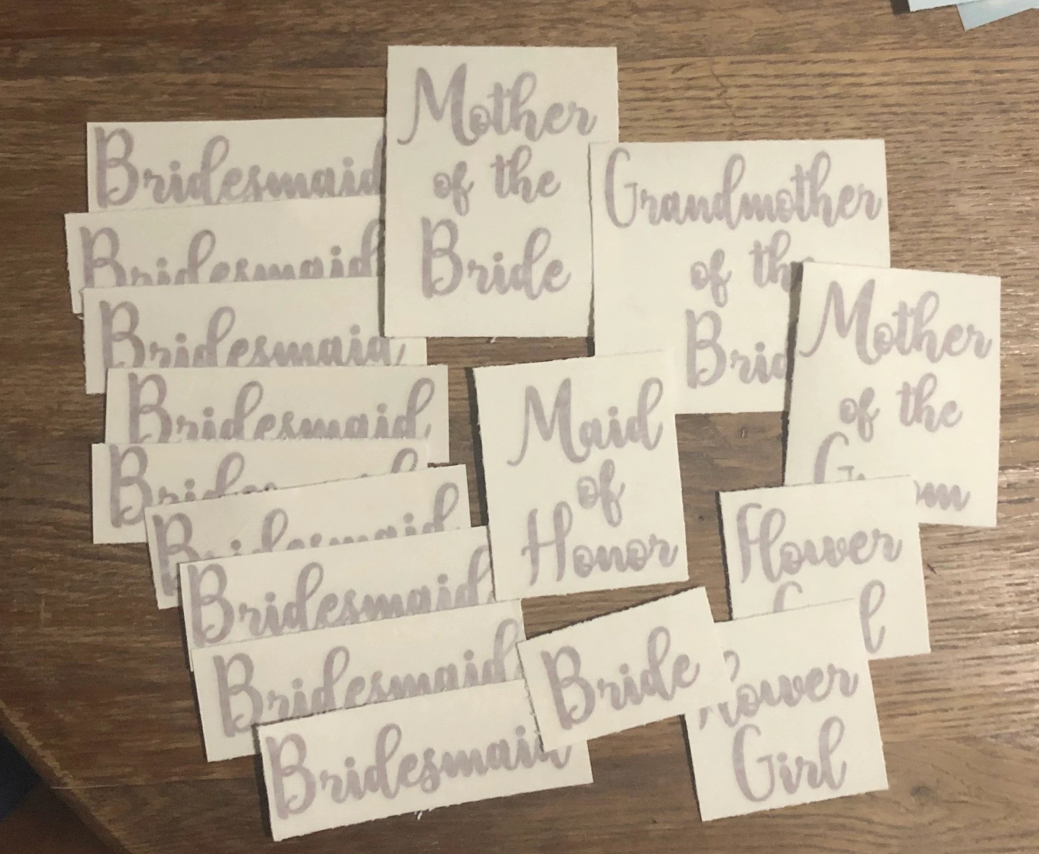 wedding party decals bridesmaid decal maid of honor decal image 3