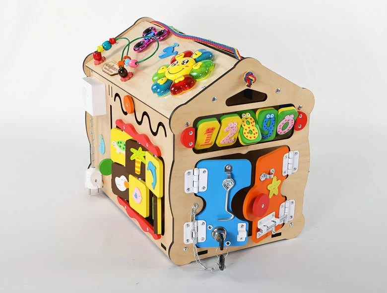 Montessori busy box for toddlersbusy board diy Maison +Music(Russian)