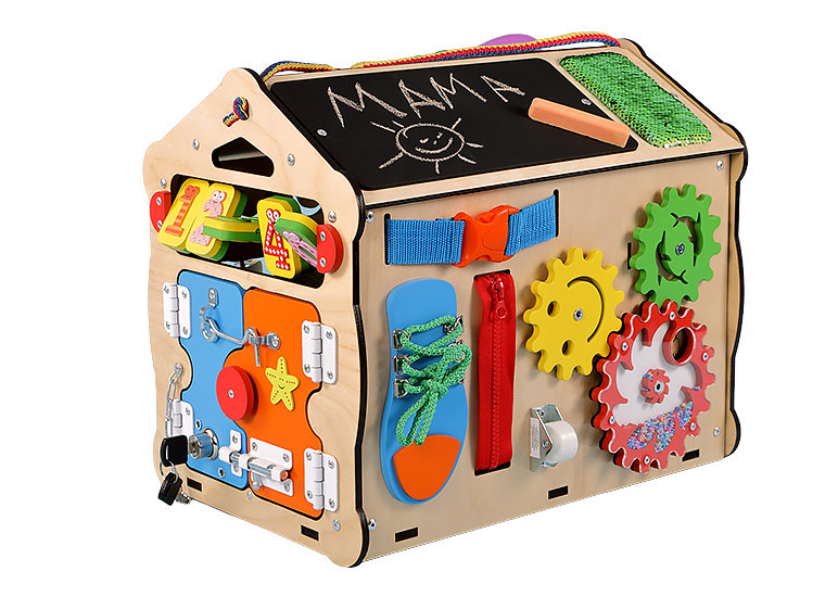 Montessori busy box for toddlersbusy board diy Maison image 8