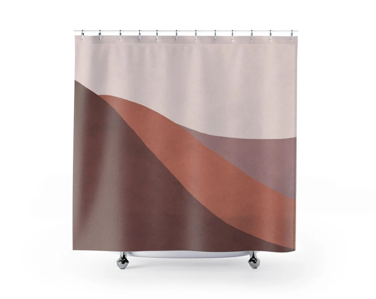mauve shower curtain etsy