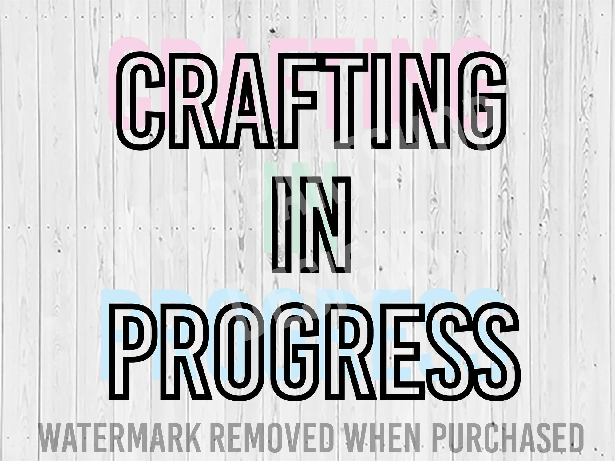 Crafting In Progress Svg Cut File Crafting Queen Svg Mom Etsy