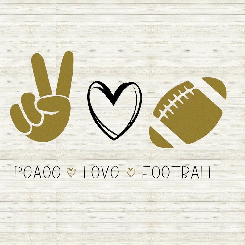 Download Peace Love Football/ Love Football SVG / Football Cutter ...