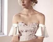 THALIA | Detachable Wedding Dress Off the Shoulder Sleeve