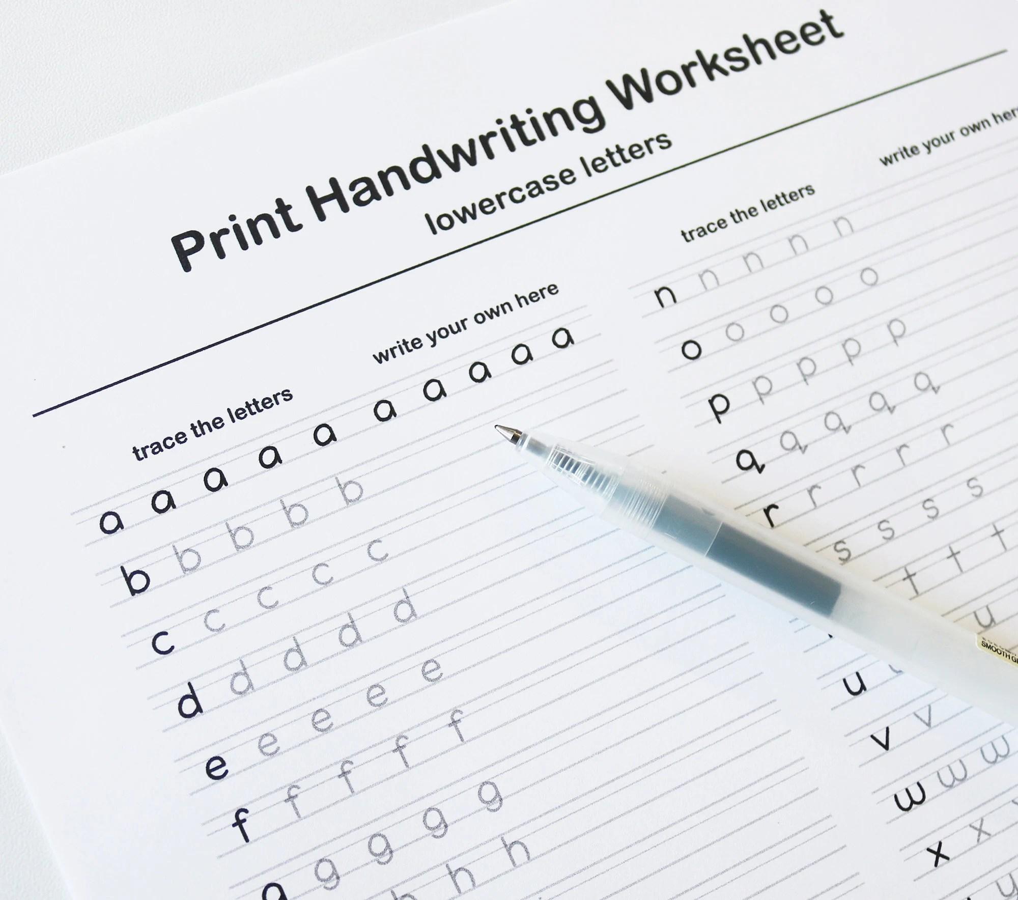 Printable Handwriting Worksheet Lowercase And Uppercase