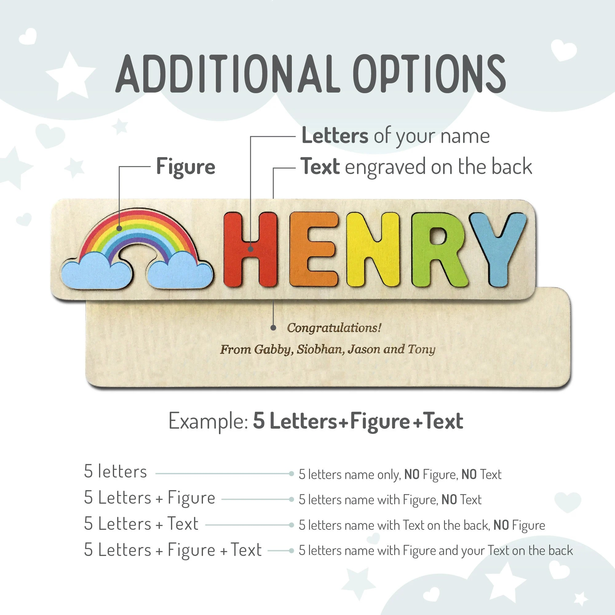 Name Puzzle  Toys Name Puzzle  Baby Girl  First Birthday image 6