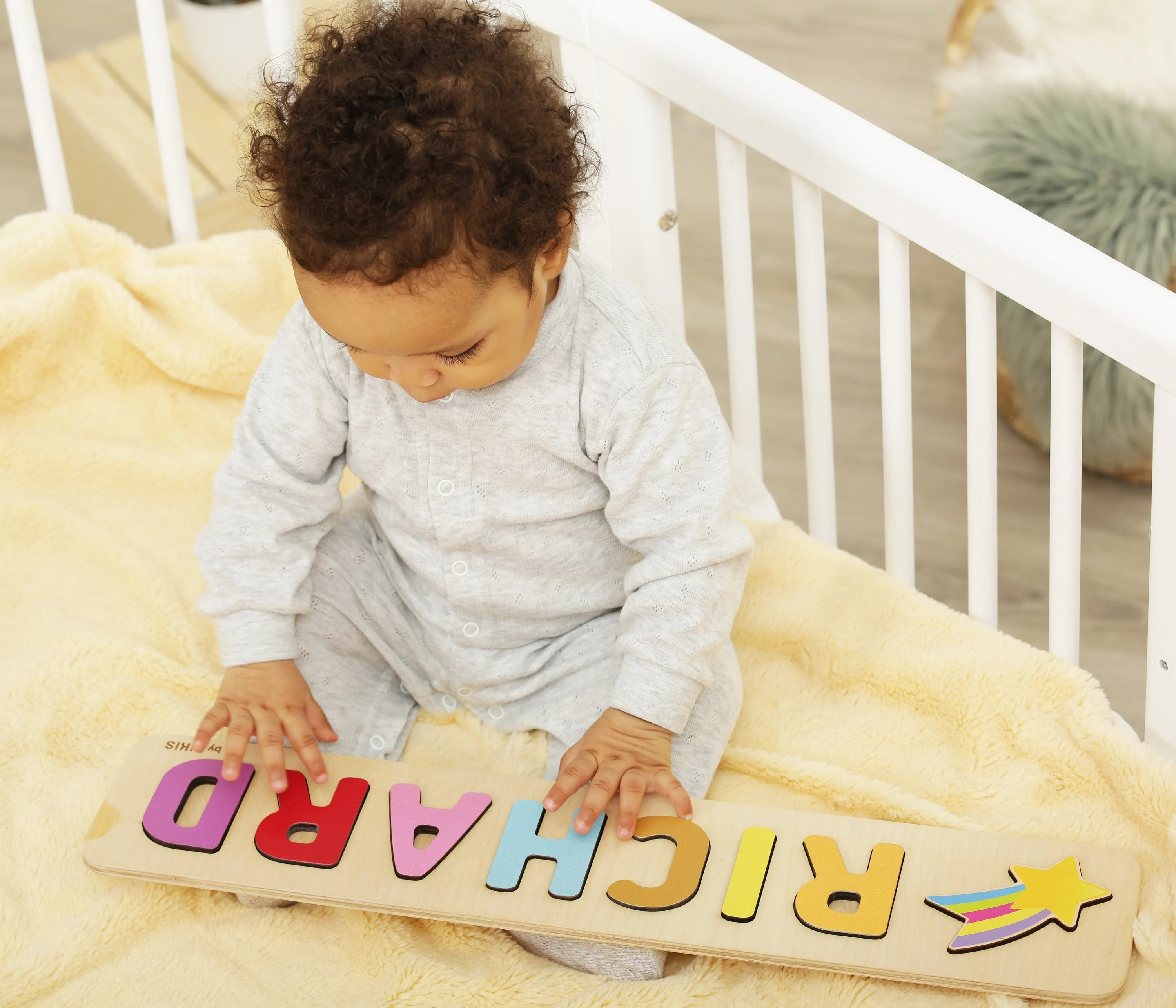 Name Puzzle  Toys Name Puzzle  Baby Girl  First Birthday image 7