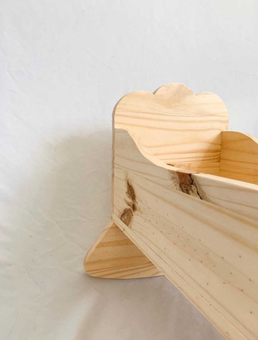 Cradle for doll / Children's Toys / Cradle / Wood / Doll image 4