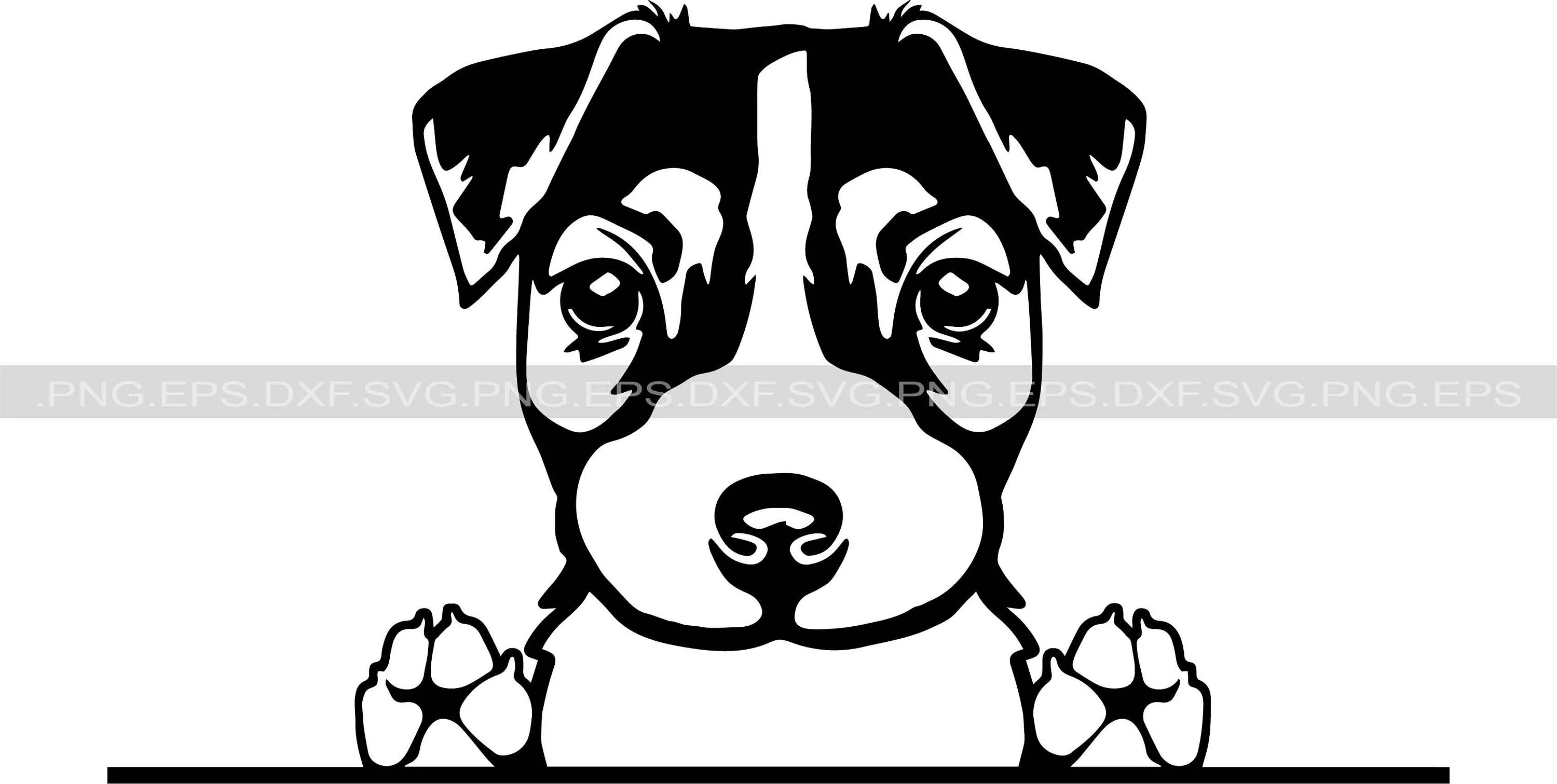 Jack Russell Terrier Dog Svg And Svg Files Instant