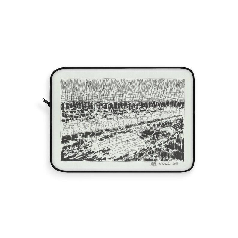 Cool Art Laptop Sleeve 19  Retro custom gift line art pop image 0