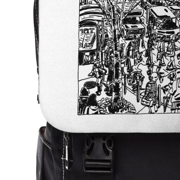 Urban Art Canvas Mini Backpack 5  Retro custom gift image 0