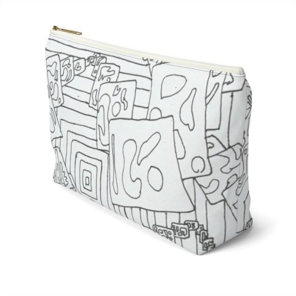 Urban Art Zipper Pouch T-bottom 2 sizes 4  Retro custom image 0