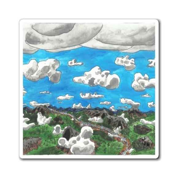 Cool Art Magnet 14  Retro custom gift line art pop art image 0