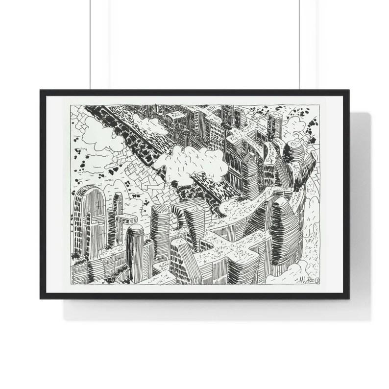 Cool Art Framed Poster 42  Retro custom gift urban pop image 0