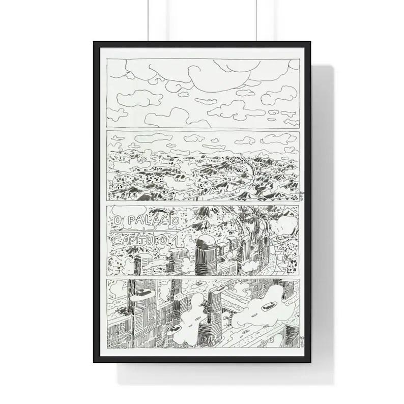 Cool Art Framed Poster 55  Retro custom gift urban pop image 0