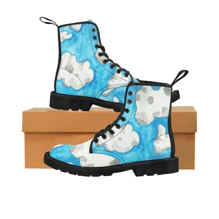 Urban Art Boots 1  Retro custom gift handmade pop art line image 0