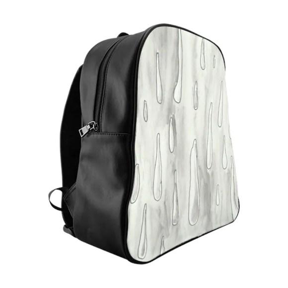 Cool Art PU Leather Backpack 3 sizes 8  Retro custom gift image 0