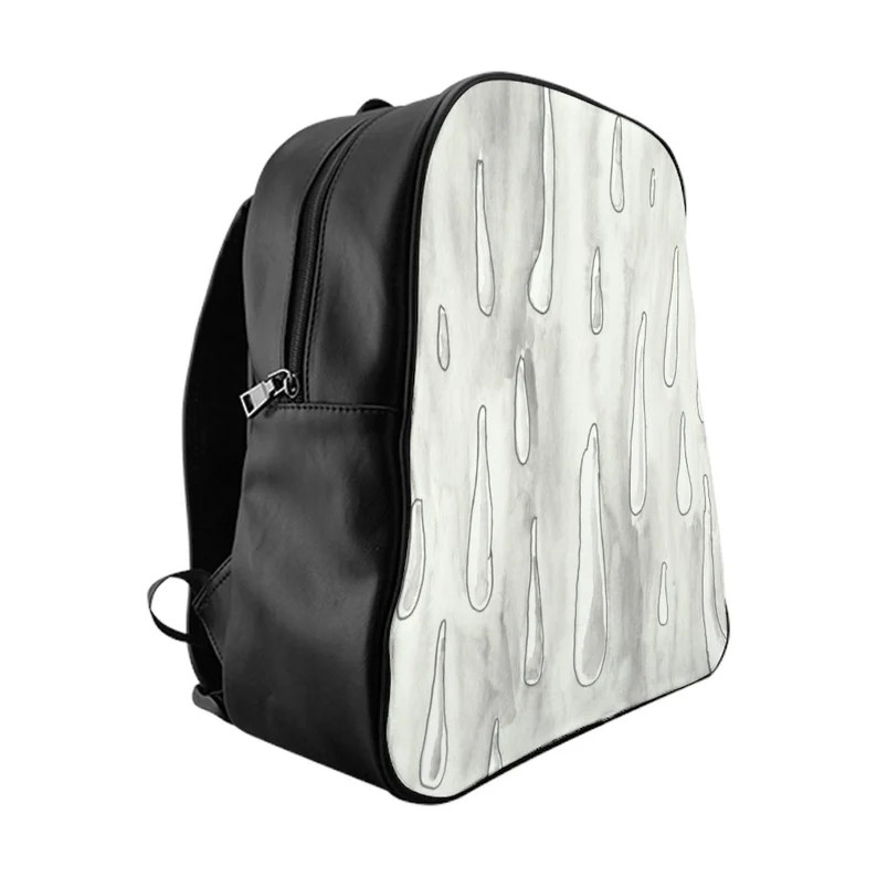 Urban Art PU Leather Backpack 3 sizes 8  Retro custom gift image 0