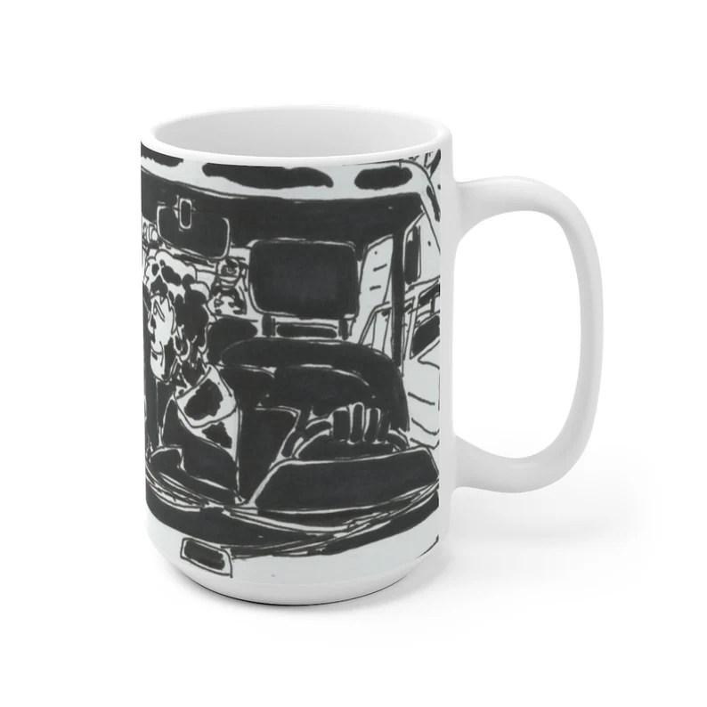 Urban Art Mug 2 sizes 56  Retro custom gift unique mugs image 0