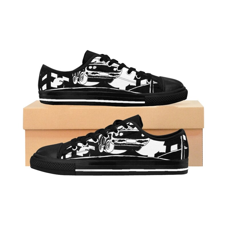 Urban Art Sneakers 1  Retro custom gift handmade pop art image 0