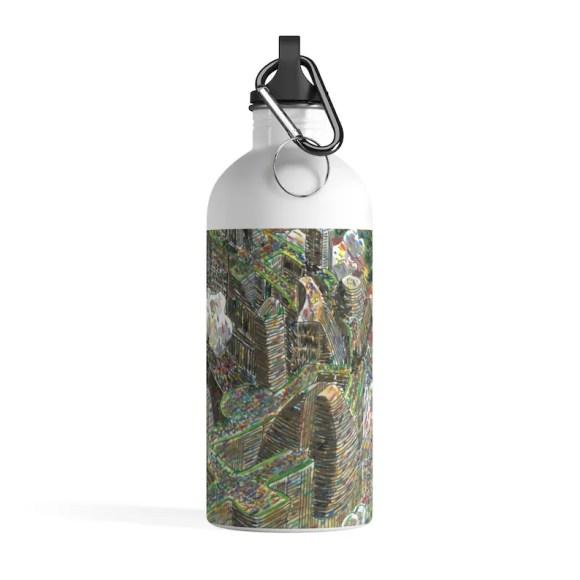 Urban Art Water Bottle 12  Retro custom gift pop art line image 0