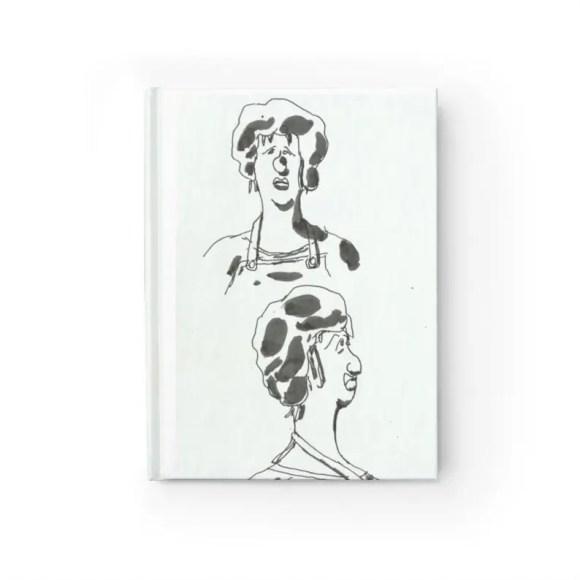 Blank Journal With Urban Art Cover 44  Retro custom gift image 0