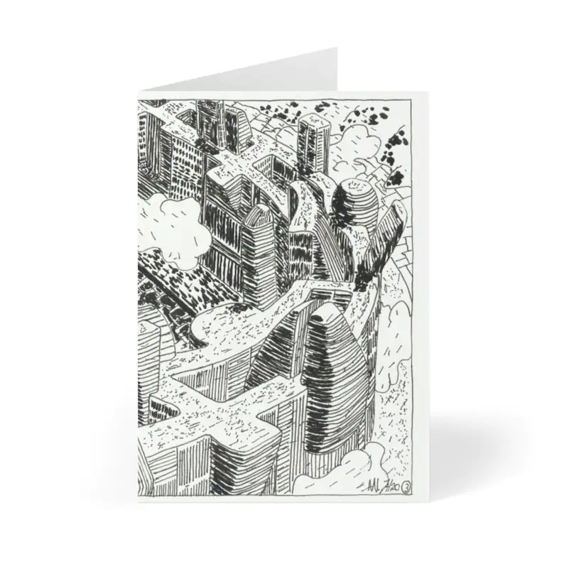 Handmade Urban Art Cards With Envelopes 12  Retro custom gift image 0