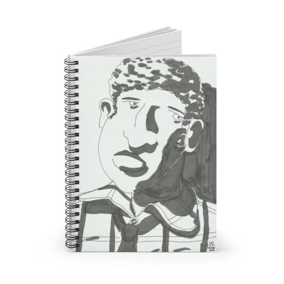 Ruled Line Spiral Notebook With Urban Art Cover 33  Retro image 0