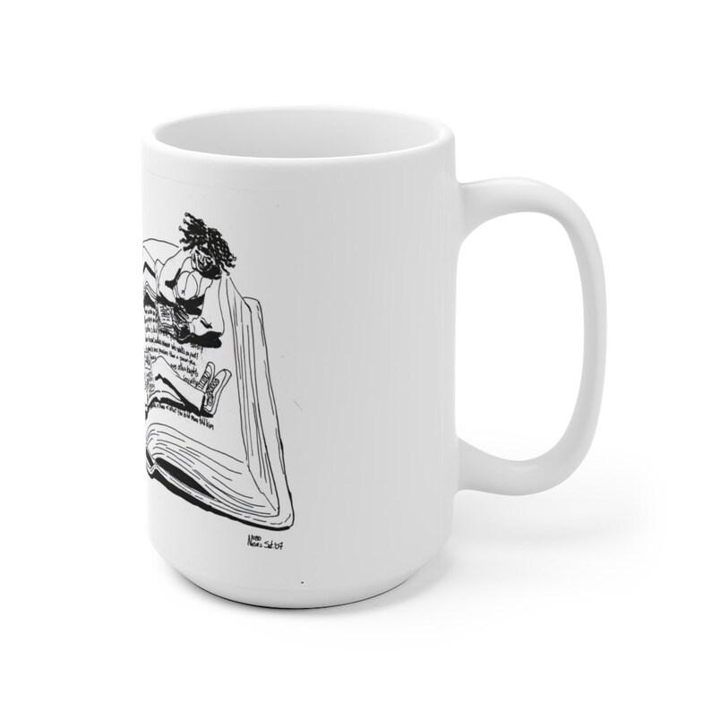 Urban Art Mug 2 sizes 28  Retro custom gift unique mugs image 0