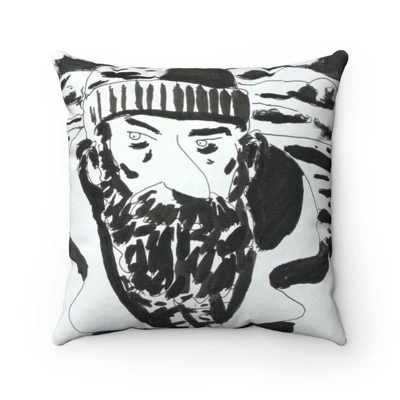 Cool Art Throw Pillows 21  Retro custom gift decorative image 0