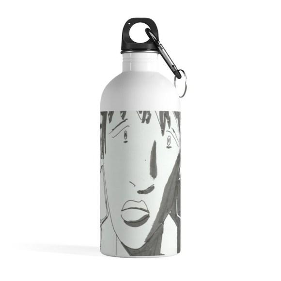 Urban Art Water Bottle 20  Retro custom gift pop art line image 0