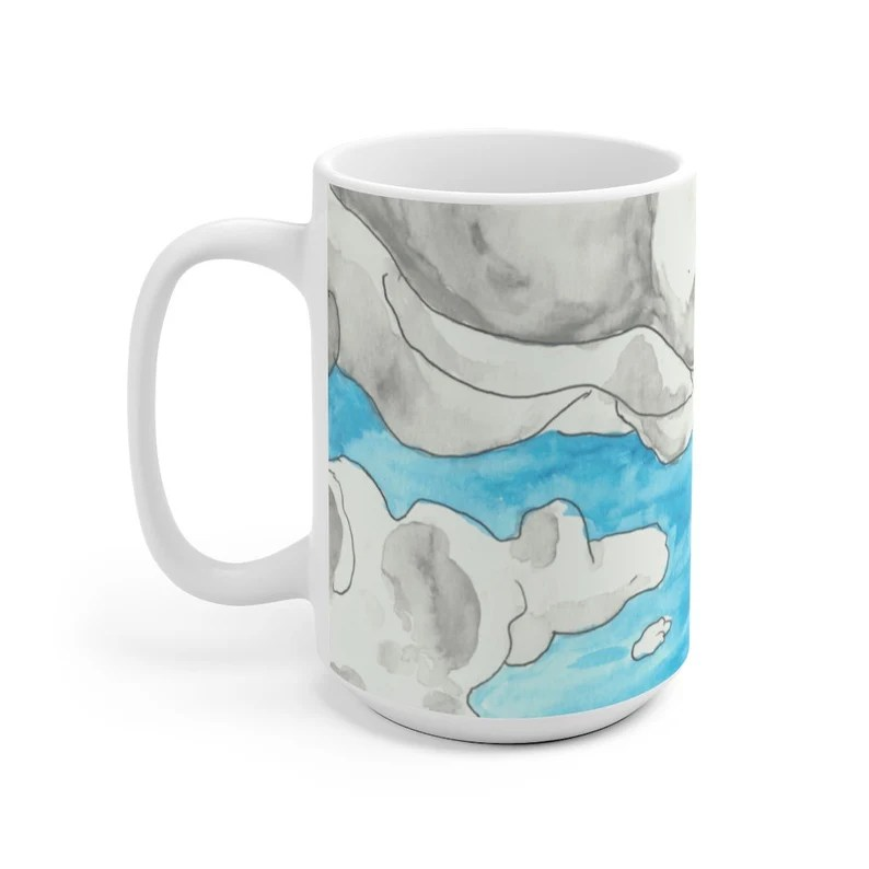 Cool Art Mug 2 sizes 8  Retro custom gift unique mugs with image 0