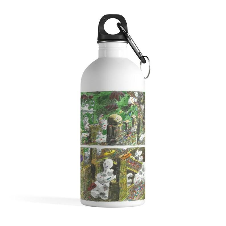 Cool Art Water Bottle 35  Retro custom gift pop art line image 0