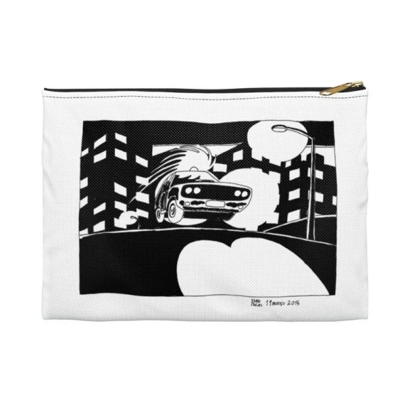 Urban Art Zipper Pouch 2 sizes 2  Retro custom gift image 0