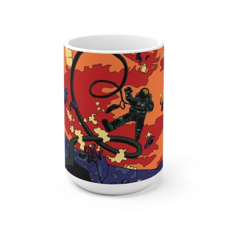Cool Art Mug 2 sizes USA9  Retro custom gift unique mugs image 0
