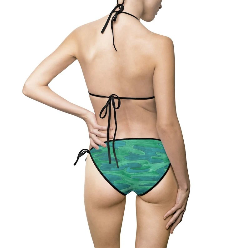 Urban Art Bikini Swimsuit 13  Retro custom gift aesthetic image 0