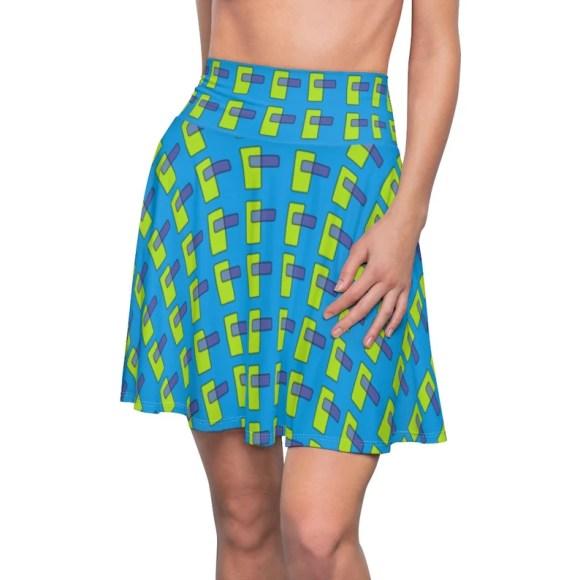 Cool Art Skater Skirt 13  Retro custom gift  skirts dresses image 0