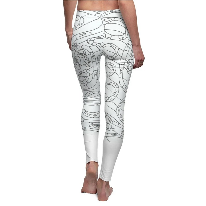 Cool Art Leggings 2  Retro custom gift aesthetic line art image 0