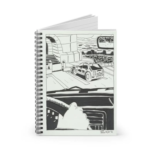 Ruled Line Spiral Notebook With Cool Art Cover 4  Retro image 0