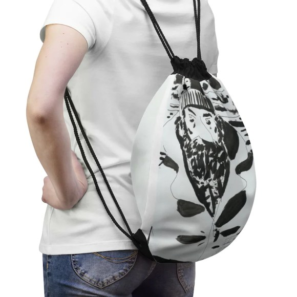 Cool Art Drawstring Bag 10  Retro custom gift aesthetic pop image 0